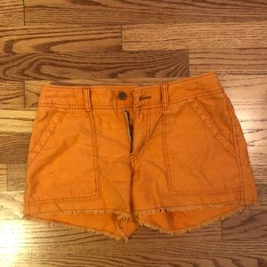 Free People Orange Cotton Shorts